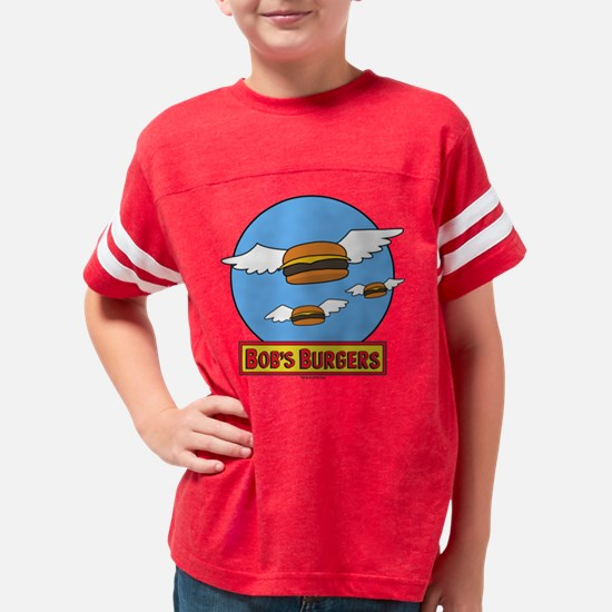 Bob's Burgers Flying Burgers  Youth Football Shirt