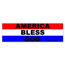 America Bless God Bumper Bumper Sticker