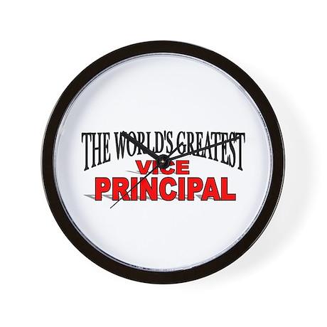 """The World's Greatest Vice Principal"" Wall Clock"