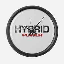 Hybrid POWER Large Wall Clock