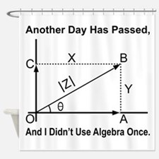Algebra Humor Shower Curtain
