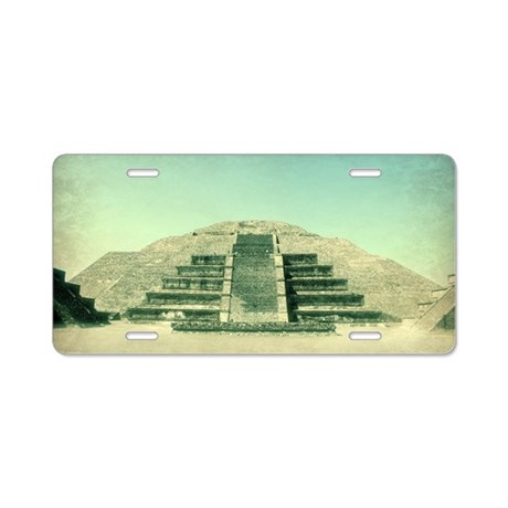 Temple of the Moon Aluminum License Plate