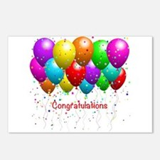 Congratulations Balloons Postcards (Package of 8)