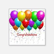 Congratulations Balloons Sticker