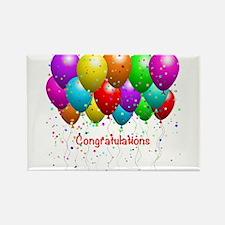 Congratulations Balloons Rectangle Magnet (100 pac