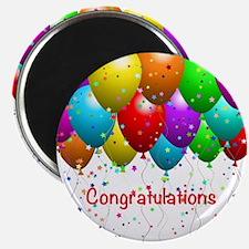 Congratulations Balloons Magnet