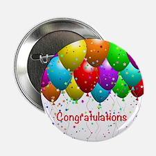 """Congratulations Balloons 2.25"""" Button"""