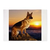 Dog german shepherd 5x7 Rugs