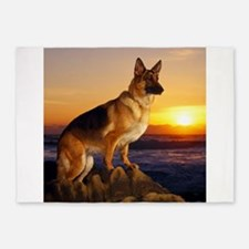Beautiful German Shepherd 5'x7'Area Rug