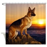 German shepherd Shower Curtains