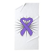 Hodgkins Lymphoma Heart Beach Towel
