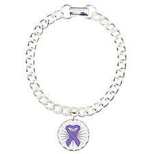Hodgkins Lymphoma Heart Bracelet