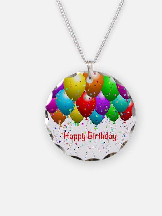 Happy Birthday Balloons Necklace