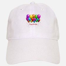 Happy Birthday Balloons Baseball Hat