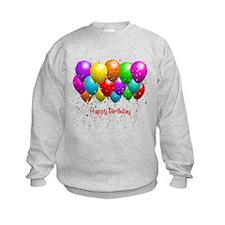 Happy Birthday Balloons Sweatshirt
