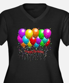 Happy Birthday Balloons Plus Size T-Shirt