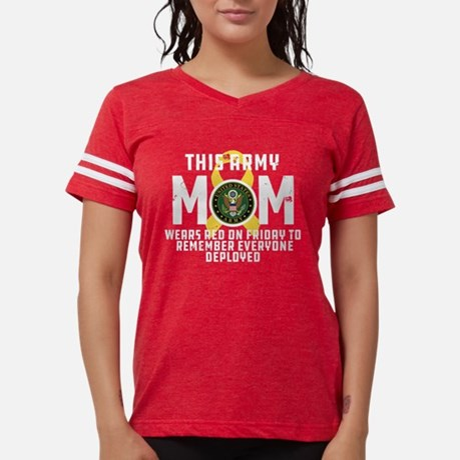 Army Mom Wears RED Football Shirt