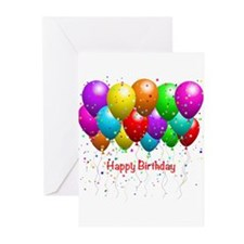 Happy Birthday Balloons Greeting Cards (Pk of 20)