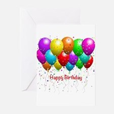 Happy Birthday Balloons Greeting Cards (Pk of 10)