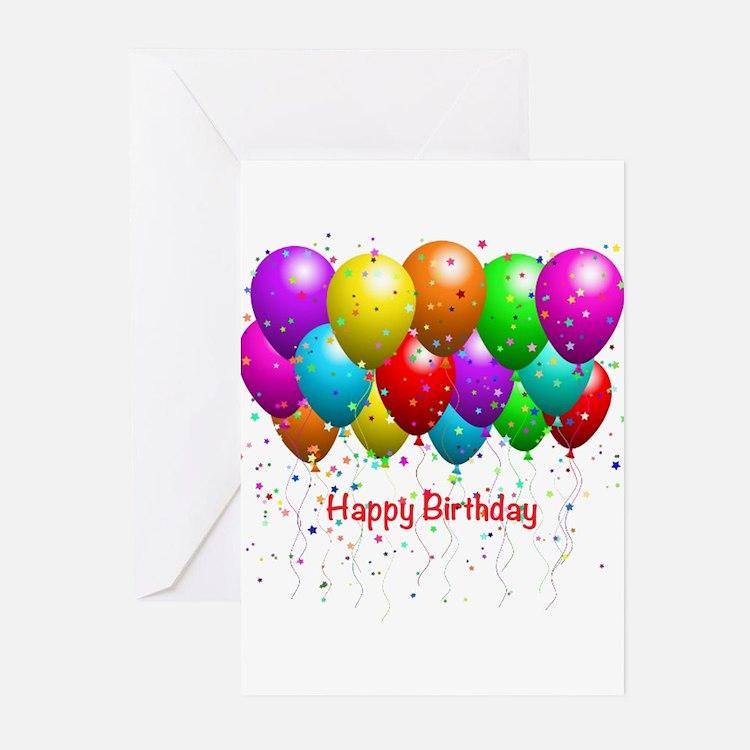 Happy Birthday Balloons Greeting Cards (Pk of 10)
