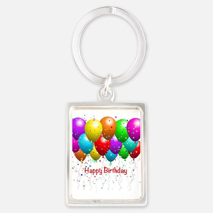 Happy Birthday Balloons Keychains