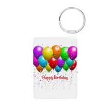 Happy Birthday Balloons Keychains