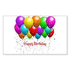 Happy Birthday Balloons Decal