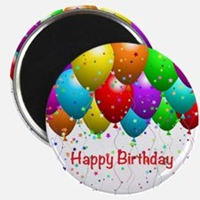 "Happy Birthday Balloons 2.25"" Magnet (10 pack)"