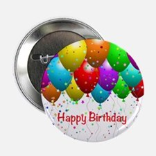 """Happy Birthday Balloons 2.25"""" Button (10 pack)"""