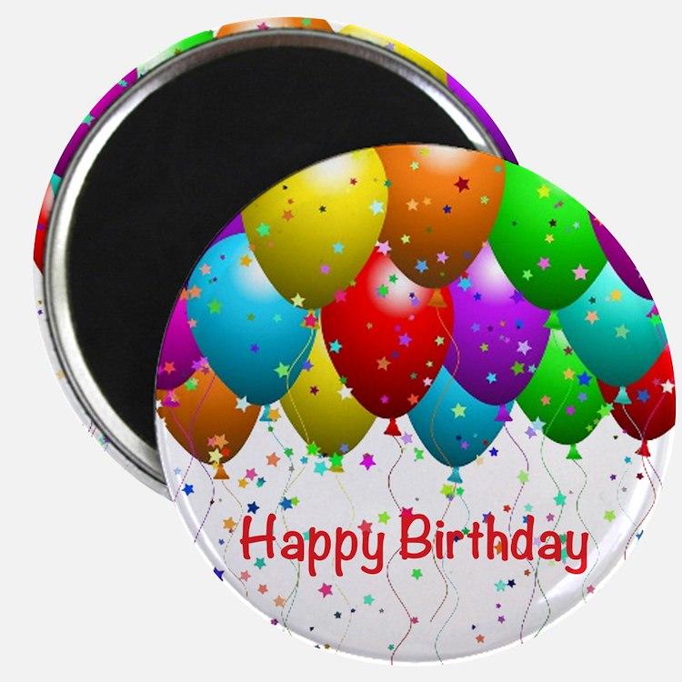 Happy Birthday Balloons Magnet