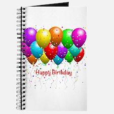 Happy Birthday Balloons Journal