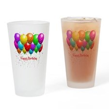 Happy Birthday Balloons Drinking Glass