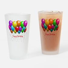 Happy Birthday Balloons Drinking Glass
