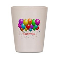 Happy Birthday Balloons Shot Glass