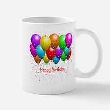Happy Birthday Balloons Mug