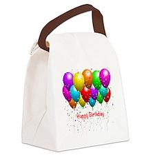 Happy Birthday Balloons Canvas Lunch Bag