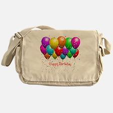Happy Birthday Balloons Messenger Bag