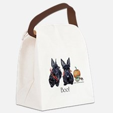 Halloween Scotties Canvas Lunch Bag