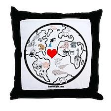 World animals Throw Pillow