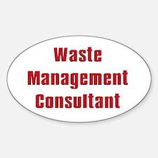 Soprano,Waste Managment Consultant Oval Bumper Stickers