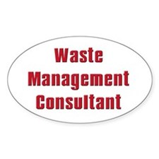 Soprano,Waste Managment Consultant Oval Decal