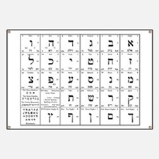 hebrew alphabet chart Banner