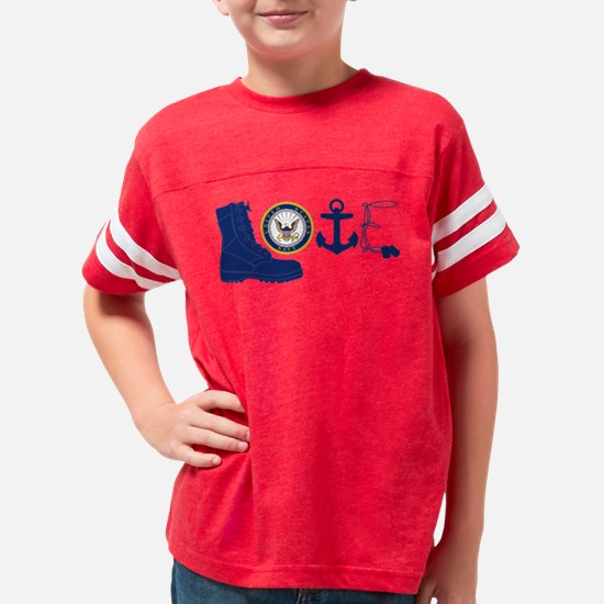 Navy Love Youth Football Shirt