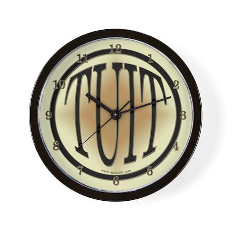 Black & Gold Round TUIT Wall Clock