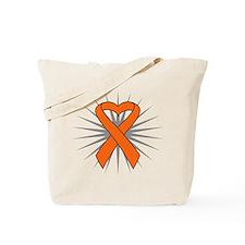 Leukemia Heart Ribbon Tote Bag