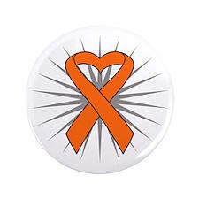 "Leukemia Heart Ribbon 3.5"" Button (100 pack)"