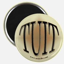 Black & Gold Round TUIT Magnet