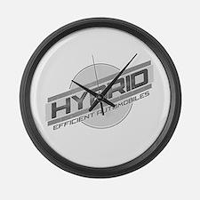 Hybrid Automobiles Large Wall Clock