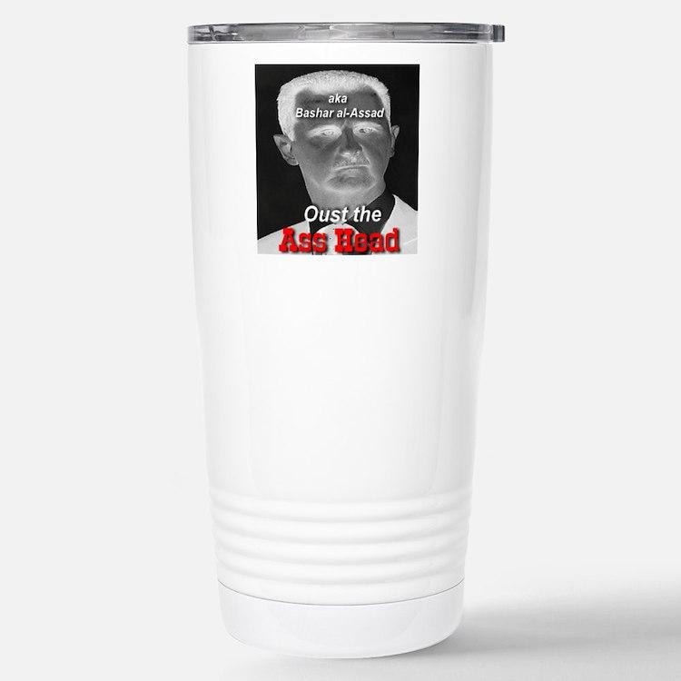 Oust the Ass Head aka Bashar al-Assad Travel Mug