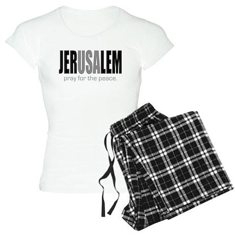 Jerusalem Pray for the Peace Women's Light Pajamas